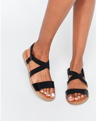 SELECTED | Elected Femme Saskia Elastic Flat Sandals | Lyst