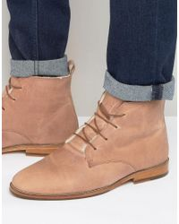 Bobbies - L'explorateur Faux Shearling Lace Up Boots - Lyst