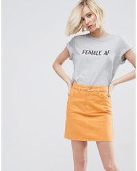 ASOS - T-shirt With Female Af Print - Lyst