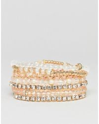 ALDO - Blush Multipack Friendship Bracelets - Lyst