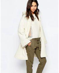 Sessun - Rafik Hooded Coat With Tassles - Lyst