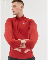 Nike - Half Zip Sweat In Red Ah8973-642 - Lyst