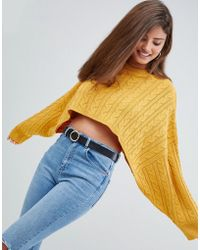 AX Paris - Cable Knit Cropped Jumper - Lyst