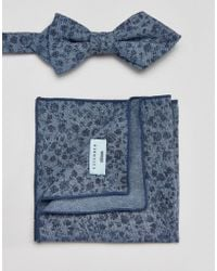 Minimum - Bow Tie And Pocket Square Set In Floral - Lyst