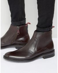 Ted Baker - Rousse Polished Zip Boots - Lyst