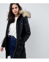 ASOS - Asos Design Tall Parka With Detachable Faux Fur Liner - Lyst