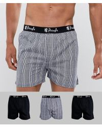Pringle of Scotland - Woven Boxers 3 Pack - Lyst