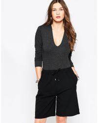Just Female - Cara Round Neck Bodysuit - Lyst