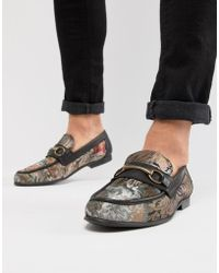 ASOS - Design Loafers In Floral Print With Snaffle - Lyst