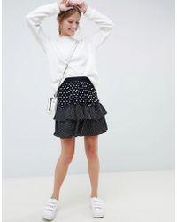 dd16e924c4 Minimum Shirley Faux Leather Skirt in Black - Lyst