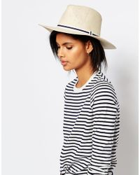 Vero Moda - Straw Boat Hat - Lyst