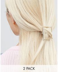 Nylon - Geo 2 Pack Hair Slides - Lyst