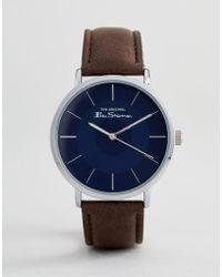 Ben Sherman - Bs014ubr Watch In Brown - Lyst