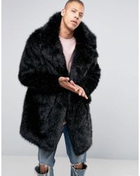 The New County - Faux Fur Coat - Black - Lyst
