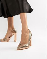 7092b346514 Glamorous Silver Patent Two Part Heeled Sandals in Metallic - Lyst