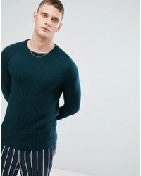 Reiss - Cable Knit Crew - Lyst
