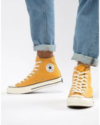 Converse - Chuck Taylor All Star '70 Hi Trainers In Yellow 162054c - Lyst