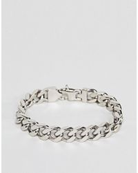 Fred Bennett - Silver Curb Chain Bracelet - Lyst