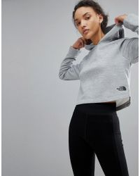 The North Face - Women's Nse Tech Hoody In Grey - Lyst