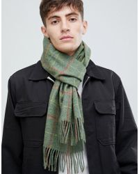 Barbour - New Market Plaid Scarf In Green - Lyst