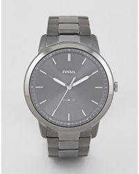 Fossil - Fs5459 Minimalist Bracelet Watch 44mm - Lyst