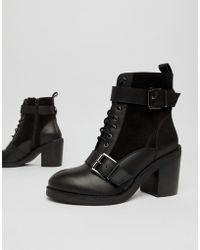 0ddc8094cde Office Alesha Heeled Boots in Black - Lyst