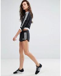 adidas Originals - Originals Black Three Stripe Shorts - Lyst