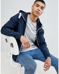 Pull&Bear - Hooded Jacket In Navy - Lyst