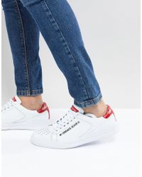 Versace Jeans - Trainers In White With Badge Logo - Lyst