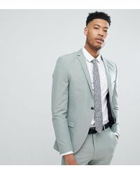 SELECTED - Skinny Fit Suit Jacket In Green - Lyst