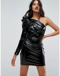 ASOS - Asos Sexy Vinyl Mini Dress - Lyst
