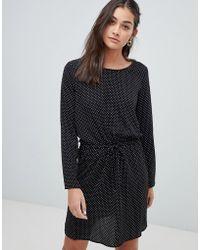 ONLY - Printed Drawstring Waist Dress - Lyst