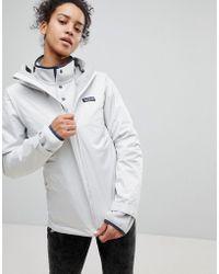 Patagonia - Torrentshell Full Zip Hooded Jacket In White - Lyst