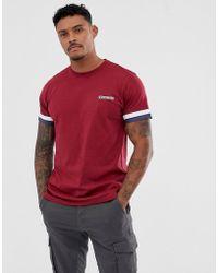 Lambretta - Tiped Arm T-shirt - Lyst