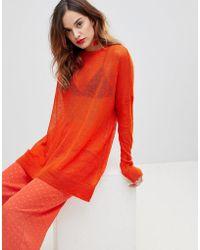 Y.A.S - Oversize Fine Gauge Knit - Lyst