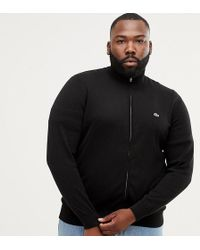 Lacoste - Logo Zip Through Jumper In Black - Lyst