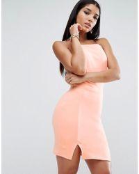 ASOS - Asos Double Split Mini Dress - Lyst