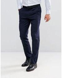 ASOS - Slim Suit Pants In Navy - Lyst