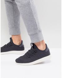 adidas Originals - X Pharrell Williams Tennis Hu Trainers In Grey Cq2162 - Lyst