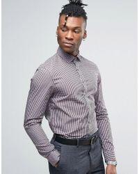 Calvin Klein - Slim Fit Gingham Checked Shirt - Lyst
