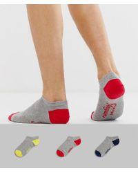 Original Penguin - Original 3 Pack Trainer Sock - Lyst