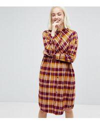 Monki - Check Shirt Dress - Lyst