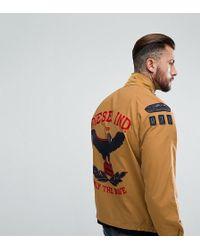 DIESEL - Field Jacket Eagle Embroidery - Lyst