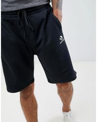 c2e49573c53e Converse - Logo Jersey Shorts In Black 10008817-a01 - Lyst