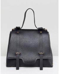 Yoki Fashion - Messenger Clasp Tote Bag - Lyst