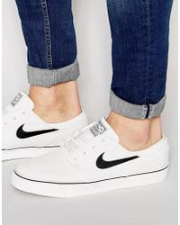 Nike - Zoom Stefan Janoski Canvas In White 615957-100 - Lyst