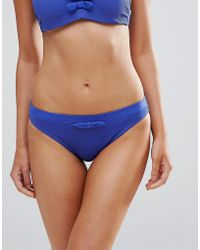 Marie Meili - E Navy Bikini Brief - Lyst
