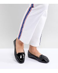 New Look - Wide Fit Patent Loafer - Lyst