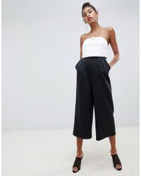5f33d9e1b84 ASOS Jumpsuit In Scuba With Cape Detail in Red - Lyst