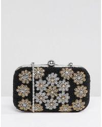 Park Lane - Handmade Floral Embellished Structured Clutch Bag - Lyst
